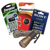 Фенери, батерии и зарядни устройства