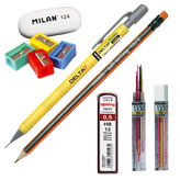 Моливи, гуми, острилки и графити