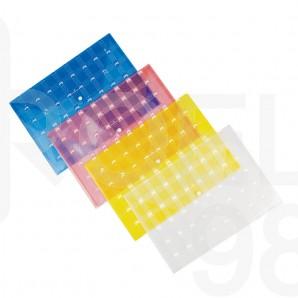 Папка с копче Faber-Castell, цветна, прозрачна