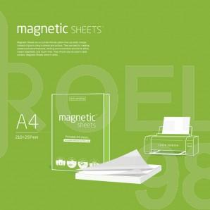 Листчета Magnetic Sheets, А4, 50 листа/опаковка, бели