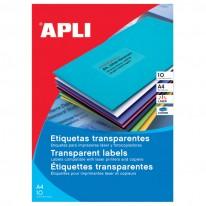 Полиестерни етикети кристално прозрачни, за цветни лазерни принтери, 10 л./пак.