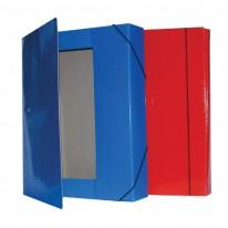 Папка - бокс с ластик и 3 вътрешни капака, 15х240х330мм