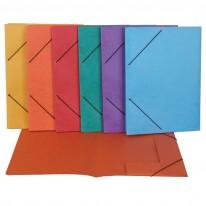 Папка с ластик и 3 странични капака, матирана, 250x 330 мм