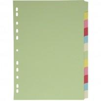 Разделител c eвроперфорация, картон, 12 цвята