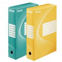 Архивна кутия Esselte, цветна, 80 мм гръб