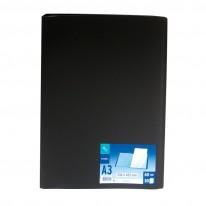 Папка с 30 джоба Viquel, черна, A3, РР