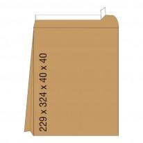 Кафяв плик с дъно, СЗЛ, C4, 229 х 324 х 40 х 40 мм