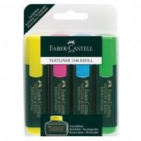 Комплект Текстмаркери Faber-Castell TEXTLINER 48, 4 цвята