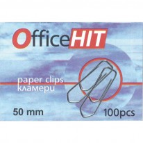 Кламери OfficeHIT, триъгълни, 50 мм, 100 броя