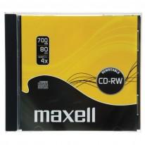CD-RW диск MAXELL, 700MB, 4-12x, шпиндел, 10 бр.