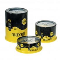 CD-R диск MAXELL, 700MB, 52x, шпиндел, 100 бр.