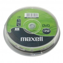 DVD+RW диск MAXELL, 4.7GB, 4x, шпиндел, 10 бр.