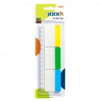 Самозалепващи индекси STICK'N 37х50, 3цв. х 10л. за папка за картотека