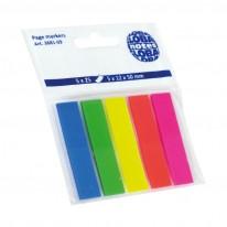 Индекси Global Notes, неон, 12 х 50 мм, 5 цвята х 25 л.