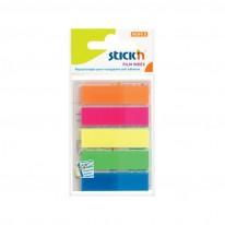 Индекси Stick'N, неон, 12х45мм, 5 цвята по 25 л.