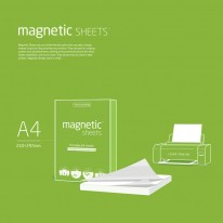 Листчета Magnetic Sheets, А4, 100 листа/опаковка, бели
