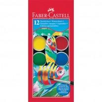 Акварелни бои Faber-Castell, 12 цвята, голяма кутия