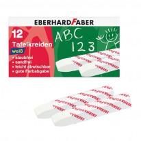 Тебешир Faber-Castell, бял, 12 броя