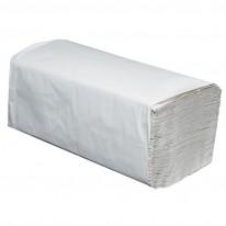 Кърпи за ръце на пачки, V-образни, 1-пластови, 250 откъса, натурални, рециклирани