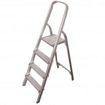 Стълба, 4+1 стъпала, алуминиева