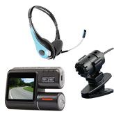 Слушалки, микрофони, камери и аксесоари