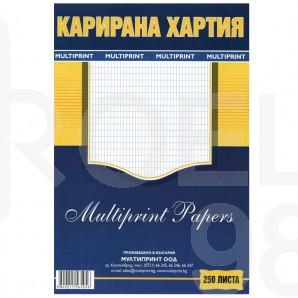 Карирана  хартия, офсет, A4, 500 л.