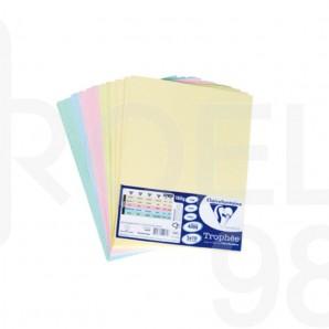 Картон копирен цветен А4, пастел, 160гр./м2, микс 5 x 10 л.