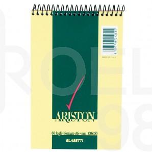 Бележник спирала, Ariston, A6, квадратчета, 60 л.
