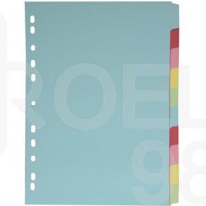 Разделител c eвроперфорация, картон, 10 цвята