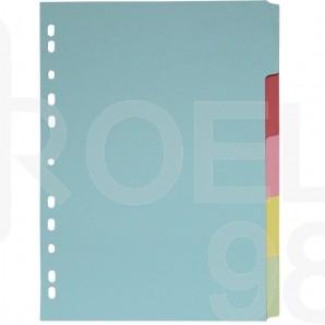 Разделител c eвроперфорация, картон, 5 цвята