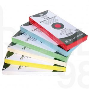 Разделители от рециклиран картон Exacompta, пастел