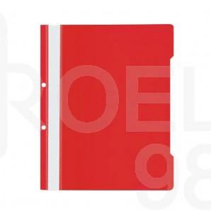 Папка PVC с прозрачно лице Noki, с машинка, A4, с перфорация