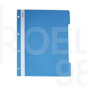 Папка PVC с прозрачно лице, A4, с четворна перфорация