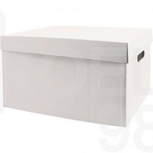 Архивен кашон, бял, 520 х 365 х 250 мм