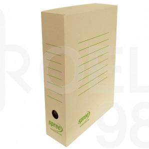 Кутия архивна Spree, кафява, 80мм