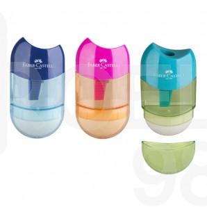 Острилка и гума Faber-Castell Trend Combi, микс цветове