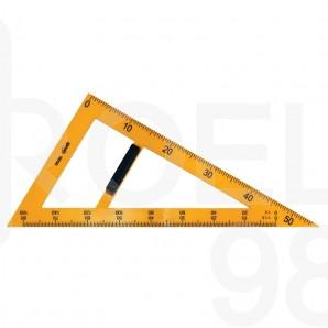 Триъгълник училищен 57x33x66 см, 60°
