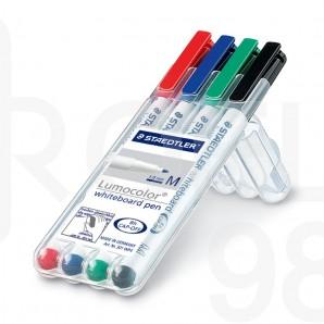 Комплект маркери за бяла дъска Staedtler 301, 4 цвята