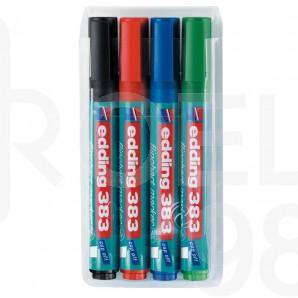 Комплект маркери за флипчарт Edding 383, 4 цвята
