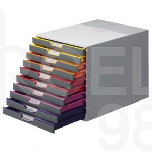 Бокс за документи Durable Varicolor, 10 чекмеджета