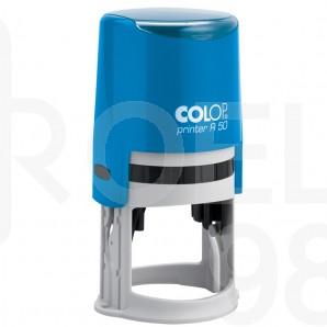 Печат Colop Printer R40, Ǿ40 мм., черен, син, червен