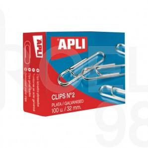 Кламери Apli, заоблени, 32 мм, 100 броя