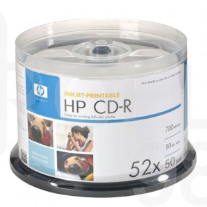 CD-R диск HP Printable, 700MB, 80 min, 4-12x, шпиндел 50 бр.