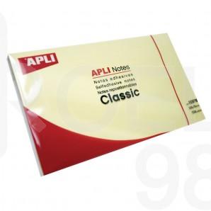 Самозалепващи листчета APLI, 125 x 75 мм, жълти
