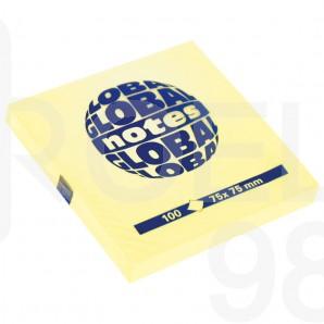 Самозалепващи листчета Global Notes, 75 х 75 мм