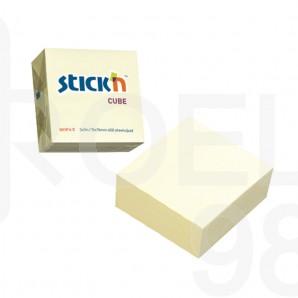 Самозалепващи листчета Stick`N, пастел, 76 x 76 мм, жълти