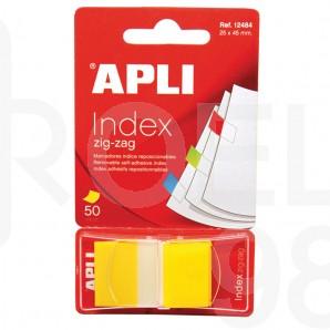 Индекси Apli Zig-Zag, 24 x 45 мм, 50 бр., в прозрачен диспенсър