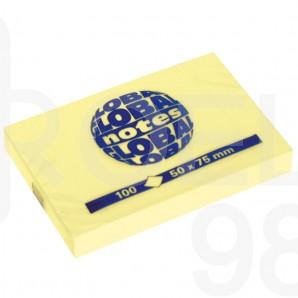 Самозалепващи листчета Global Notes, 50 х 75 мм