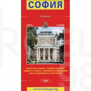 Сгъваема пътна карта, София, 1 : 19 000