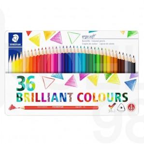 Цветни моливи Ergosoft 157, 36 цвята, метална кутия, серия Adult Coloring